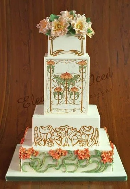 art nouveau wedding cake cake wrecks home sunday nouveau 10858