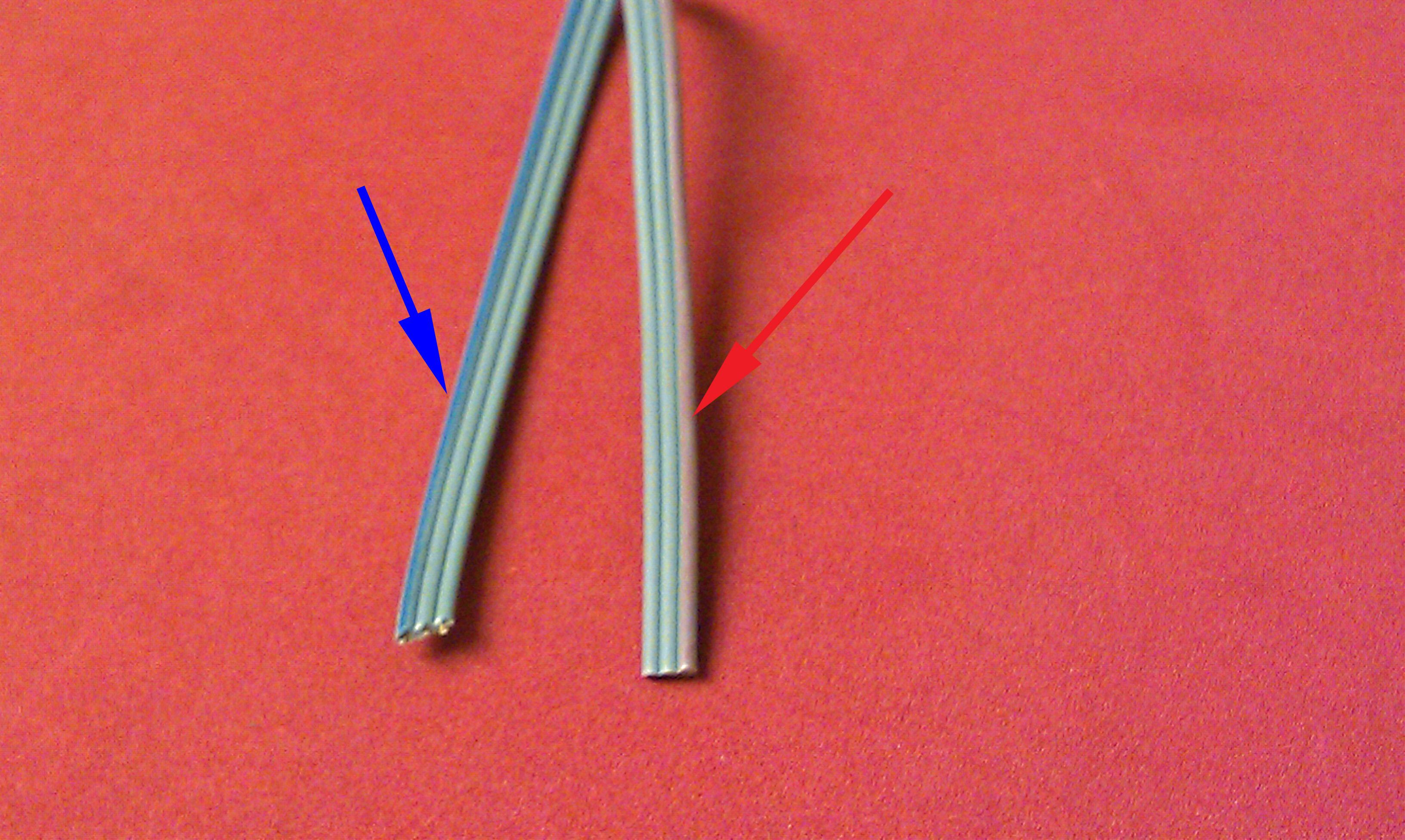 striped speaker wire is wires